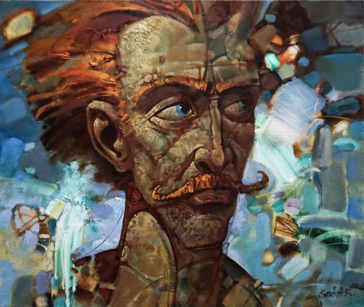 На этот раз мы видим портрет необычного человека. У него яркие эмоции. Черты лица выдают порывистость, целеустремленность. Человек изображается в тот самый момент своей жизни, когда все сошлось воедино: желания, возможности, способности.