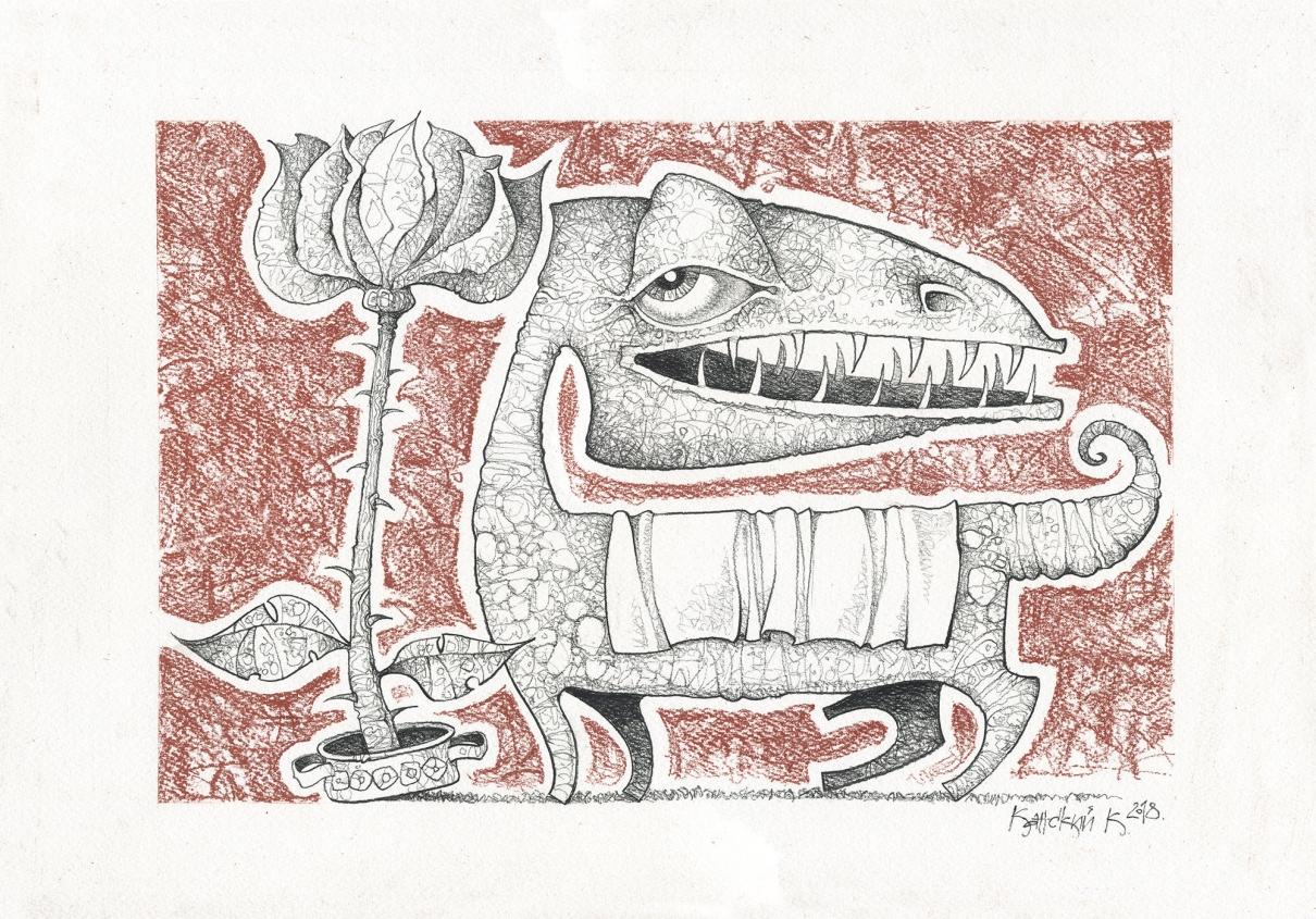 Роза и чудовище.
