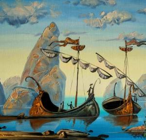 Корабли нашли бухту. Скоро рассвет. Много неожиданностей ждёт моряков.