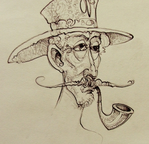 Человек с трубкой