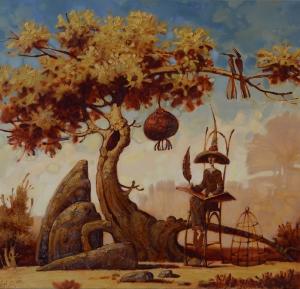 Летописец, мальчик сидит под деревом и ждет когда созреет плод