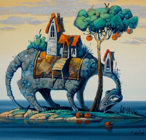 Dragon on the island